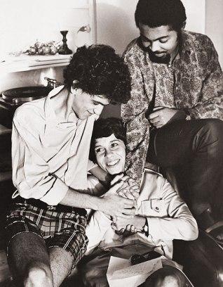 Gal com Caetano Veloso e Gilberto Gil