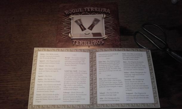 Roque Ferreira Terreiros livret